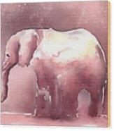 Pink Elephant Wood Print