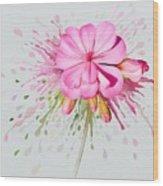 Pink Eruption Wood Print