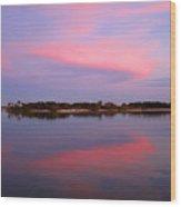 Pink Evening Wood Print