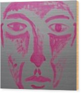 Pink Face  Wood Print