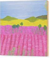 Pink Field Wood Print