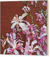 Pink Floral Arrangement Wood Print
