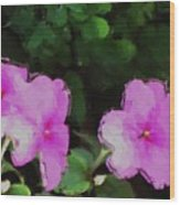 Pink Floral Watercolor Wood Print