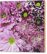 Pink Flower Carpet Wood Print