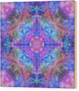 Pink Flower Of Life Mandala Wood Print