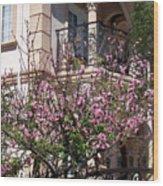 Pink Flower Tree. Elegant Wood Print