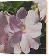 Pink Flowers P79 Wood Print