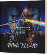 Pink Floyd Montage Wood Print
