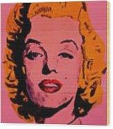 Pink Folded Marilyn Wood Print