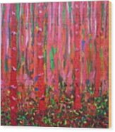 Pink Forest Wood Print