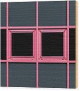 Pink Grid Wood Print