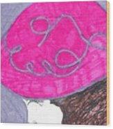 Pink Hat Wood Print