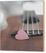 Pink Heart Wood Print