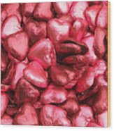 Pink Heart Chocolates II Wood Print