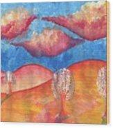 Pink Hills Dream Wood Print