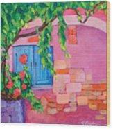 Pink Home Wood Print