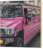 Pink Hummer At Trafalgar Wood Print