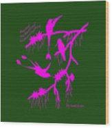 Pink Hummingbirds Wood Print