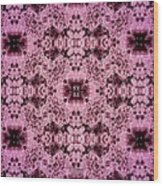 Pink Lace Wood Print