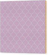 Pink Lavender Quatrefoil Wood Print