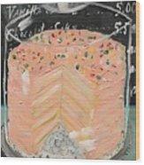 Pink Layer Cake Wood Print