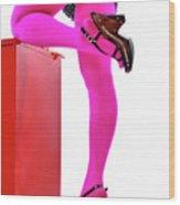 Pink Legs Wood Print