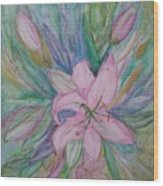 Pink Lily- Painting Wood Print