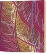 Pink Lines Wood Print
