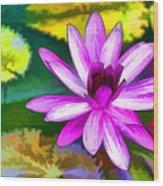 Pink Lotus Gallery  Wood Print