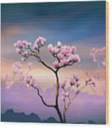 Pink Magnolia - Bright Version Wood Print