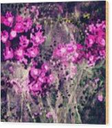 Pink Majestic Garden- Art By Linda Woods Wood Print