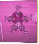 Pink Male Pipe Wood Print