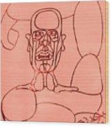 Pink Man Wood Print