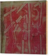 Pink Monotype Wood Print