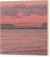 Pink Morning In The Bay Of Thunder Wood Print