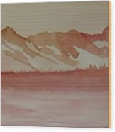 Pink Mountains Wood Print