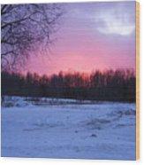 Pink Night Wood Print