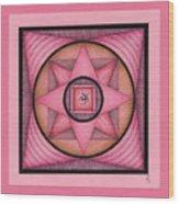 Pink Om Thing Wood Print
