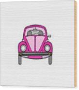 Pink On Wheels Wood Print