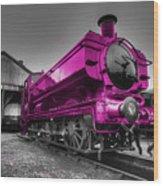 Pink Pannier  Wood Print