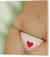Pink Panties Wood Print