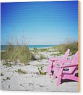 Pink Paradise Vanilla Pop Wood Print