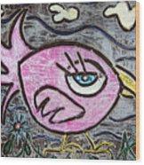 Pink Parrot Wood Print