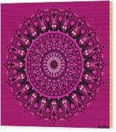 Pink Passion No. 3 Mandala Wood Print