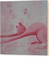 Pink Pause Wood Print