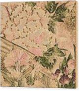 Pink Peonies - Kimono Series Wood Print