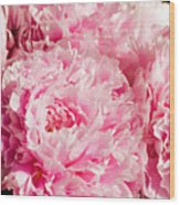 Pink Peony Bouquet Wood Print