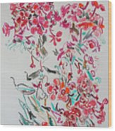 Pink Phloxes Wood Print