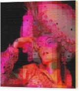Pink Pixelated Princess Wood Print