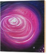 Pink Planet With Diffusing Atmosphere Wood Print